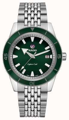 Rado Xl 'capitán capitán' brazalete de acero inoxidable esfera verde R32505313