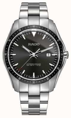 Rado Reloj con esfera negra de acero inoxidable hipercromo xxl R32502153