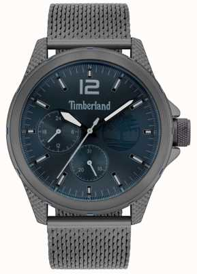 Timberland El | taunton para hombre | pulsera de malla gris metalizado | esfera azul marino | 15944JYU/03MM