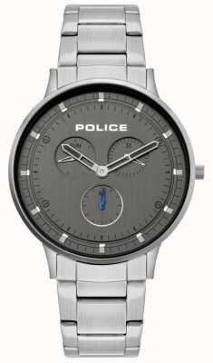 Police El | berkeley para hombre | pulsera de acero inoxidable | esfera gris | 15968JS/39M