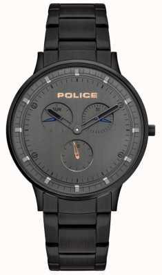 Police El | berkeley para hombre | pulsera de acero negro | esfera gris | 15968JSB/39M