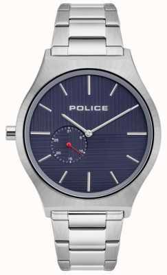 Police El | orkneys para hombres | pulsera de acero inoxidable | esfera azul marino | 15965JS/03M