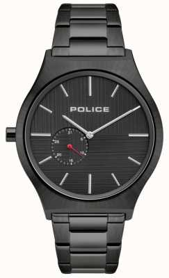 Police El | orkneys para hombres | pulsera negra de acero inoxidable | esfera negra 15965JSU/02M