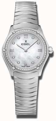 EBEL El | clásico deportivo para mujer | acero inoxidable | esfera de diamantes 1216475A
