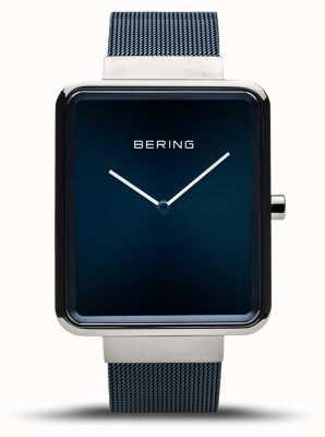 Bering El | clásico de los hombres | pulsera de malla azul | esfera azul | 14533-307