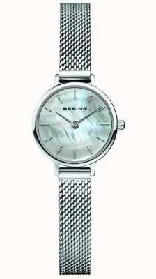 Bering El | clásico de mujer | pulsera de malla de acero | madre perla 11022-004