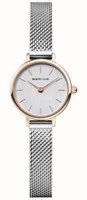 Bering El | clásico de mujer | pulsera de malla de acero | esfera gris | 11022-064