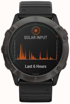 Garmin Fenix 6x pro solar titanio | gris carbón dlc | correa negra 010-02157-21