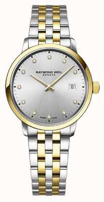 Raymond Weil El | toccata de mujer | acero inoxidable bicolor | esfera plateada | 5985-STP-65081