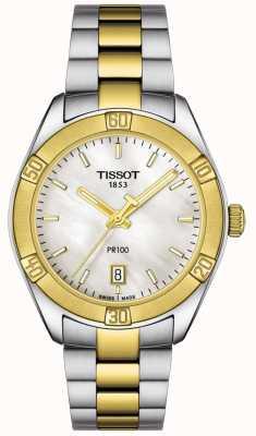 Tissot | mujer pr100 sport chic | pulsera de dos tonos | T1019102211100