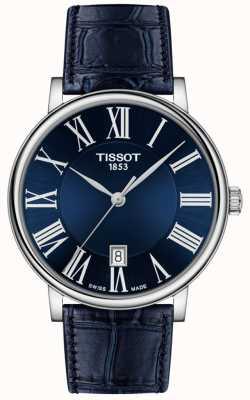 Tissot El | hombres | carson premium | correa de cuero azul | esfera azul | T1224101604300