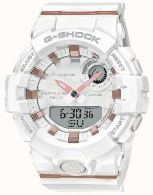 Casio El | g-shock escuadra g | correa de goma blanca | bluetooth inteligente | GMA-B800-7AER