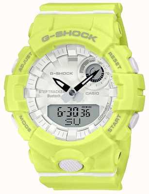 Casio G-shock escuadra g | correa de goma amarilla | bluetooth inteligente | GMA-B800-9AER