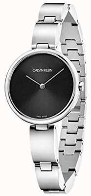 Calvin Klein El | pulsera de acero inoxidable para mujer | esfera negra | K9U23141