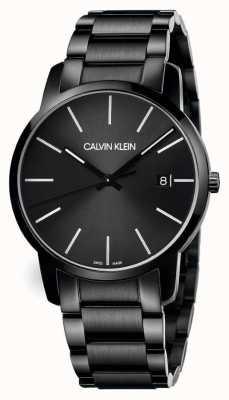 Calvin Klein El | ciudad de los hombres | pulsera de acero inoxidable negro | esfera negra | K2G2G4B1