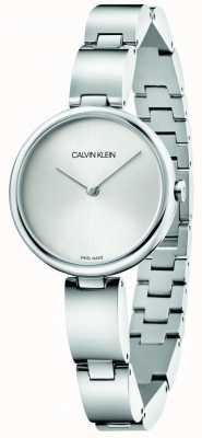 Calvin Klein El | pulsera de acero inoxidable para mujer | esfera plateada | K9U23146