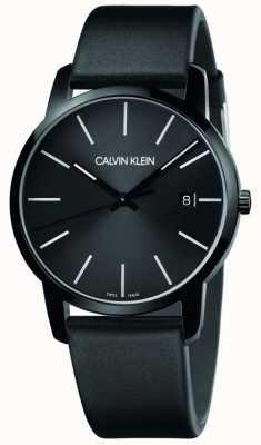 Calvin Klein El | ciudad de los hombres | correa de cuero negro | esfera negra | K2G2G4CX