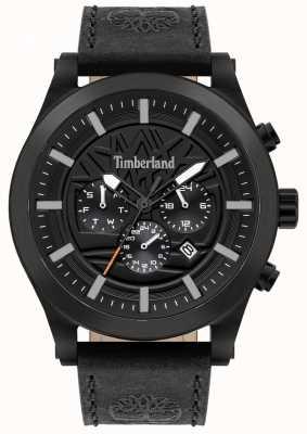 Timberland Calle inteligente | correa de cuero negro | esfera negra | 15661JSB/02