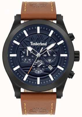 Timberland Calle inteligente | correa de cuero marrón | esfera azul | 15661JSB/03