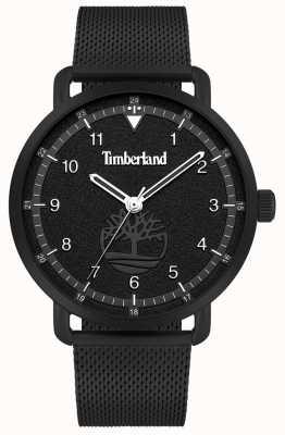 Timberland Estilo de vida de la ciudad | pulsera de malla de acero negro | esfera negra | 15939JSB/02MM