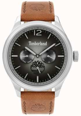 Timberland Estilo de vida de la ciudad | correa de cuero marrón | esfera negra | 15940JS/13