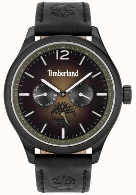 Timberland Estilo de vida de la ciudad | correa de cuero negro | esfera negra | 15940JSB/19