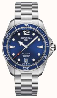 Certina | acción ds | cronómetro | esfera azul C0324511104700