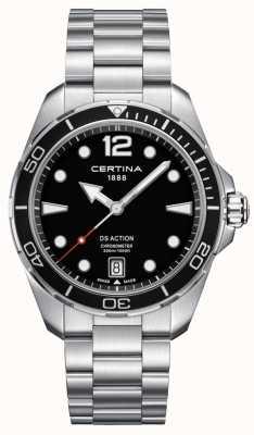 Certina Hombres | ds action | cronómetro | acero inoxidable C0324511105700
