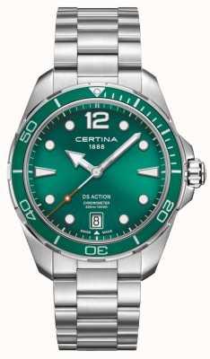 Certina Ds action cronómetro esfera verde C0324511109700