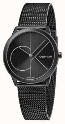 Calvin Klein Unisex | mínimo | malla de pvd negro | esfera negra K3M5245X