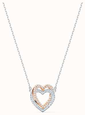 Swarovski El | collar de corazón infinito | blanco | acabado de metal mixto 5518868