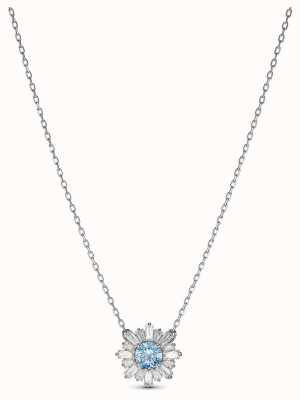 Swarovski El | sol | rodiado | cristal azul | colgante | 5536742