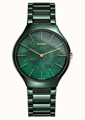 Rado Mujeres | línea delgada verdadera | cerámica verde R27006912