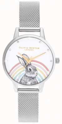 Olivia Burton Rainbow Bunny, malla dorada y plateada OB16WL89