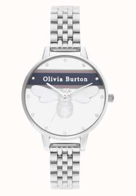 Olivia Burton El | mujeres | abeja del equipo universitario de la suerte | pulsera de plata | OB16VS07