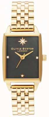 Olivia Burton El | imitación celestial | esfera de nácar negro | pulsera de oro OB16GD60