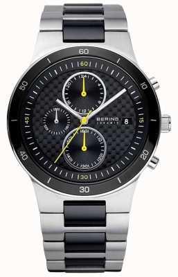 Bering El | hombres | pulsera de acero cerámico | reloj cronógrafo | 33341-749