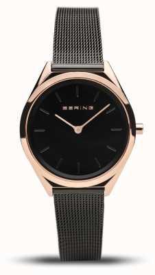 Bering El | unisex | ultra delgado | pulsera de malla negra | 17031-166