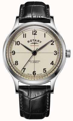 Rotary El | hombres | edición limitada | patrimonio | correa de cuero negro | GS05125/32