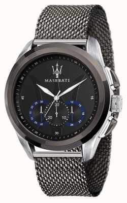 Maserati Traguardo | pulsera de malla de acero gris | esfera negra R8873612006