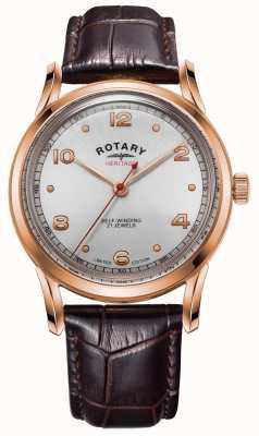 Rotary Patrimonio de edición limitada para hombres | caja de oro rosa | GS05144/70