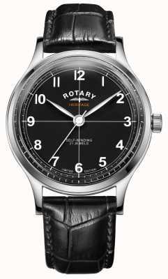 Rotary Patrimonio de edición limitada para hombres | correa de cuero negro | GS05125/04
