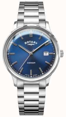 Rotary Vengador de hombres | pulsera de acero inoxidable | esfera azul GB05400/05
