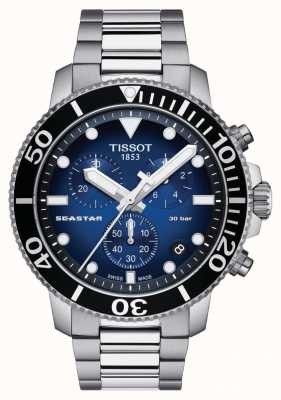 Tissot Mens seastar 30 bar 1000 cronógrafo T1204171104101