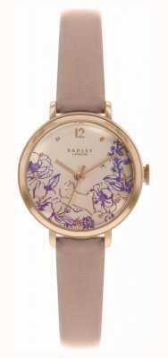Radley El   correa de piel desnuda para mujer   esfera con estampado floral   RY2980