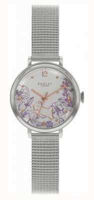 Radley El | pulsera de malla de acero para mujer | esfera con estampado floral RY4523