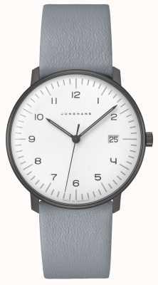 Junghans Max cuenta de cuarzo | 38 mm en blanco y negro 041/4064.04