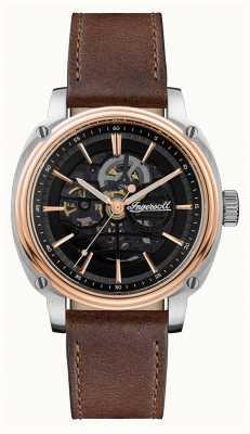 Ingersoll Hombres | el director | automático | correa de cuero marrón I09901