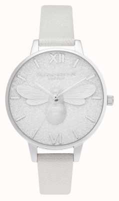 Olivia Burton | esfera demi brillo | reloj de perlas con brillo de abeja | OB16FB20