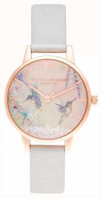 Olivia Burton Wishing wings midi perla brillante y oro rosa OB16PP61
